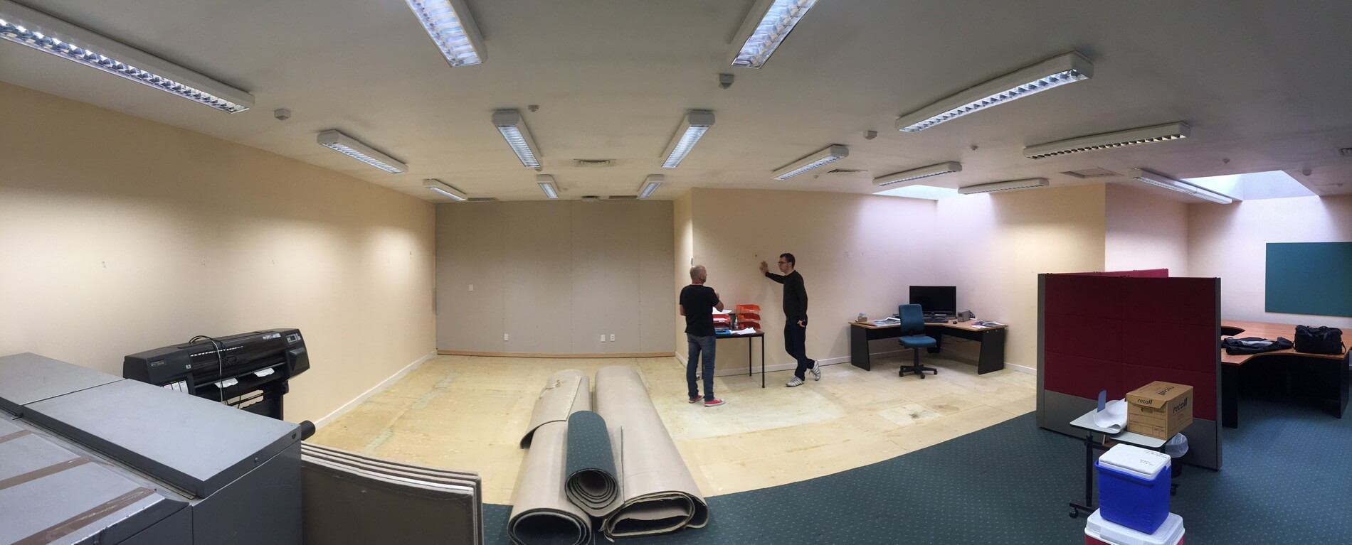 Sound Proofed Media Room Under Construction